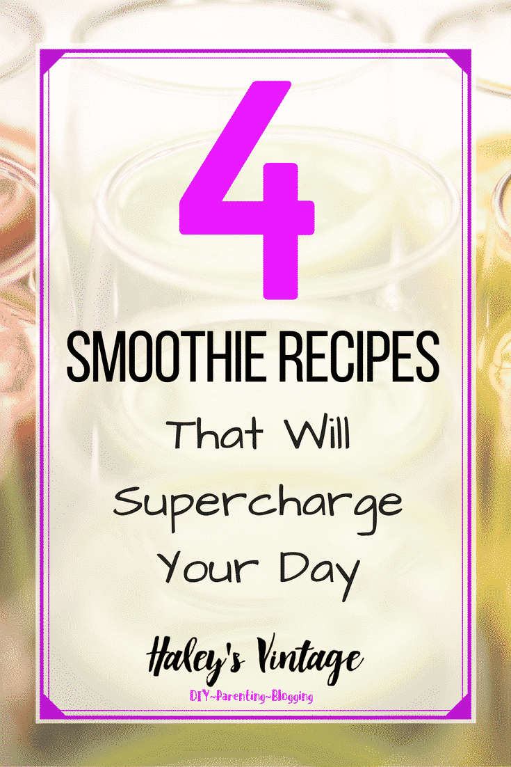 Looking wholesome fruits and vegetables in your diet? Why not try these four smoothie recipes that will supercharge your day? Let's get healthy together!