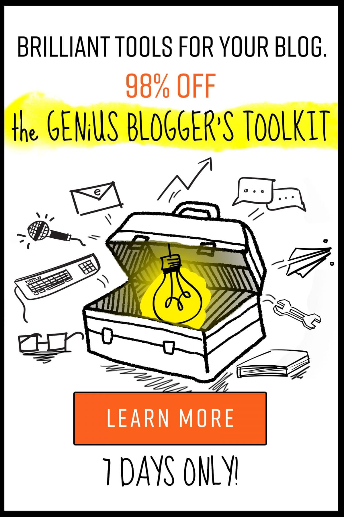 With blogging, it is so easy to become overwhelmed with how quick everything changes! How can you stay up to date? See why I love Genius Blogger's Toolkit!