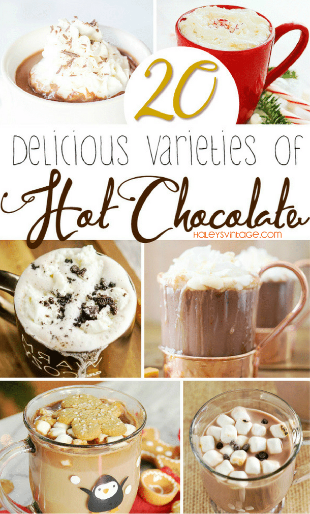 Have you ever searched for the BEST hot chocolate recipe? Well, look no further than these 20 Delicious Varieties of Hot Chocolate!
