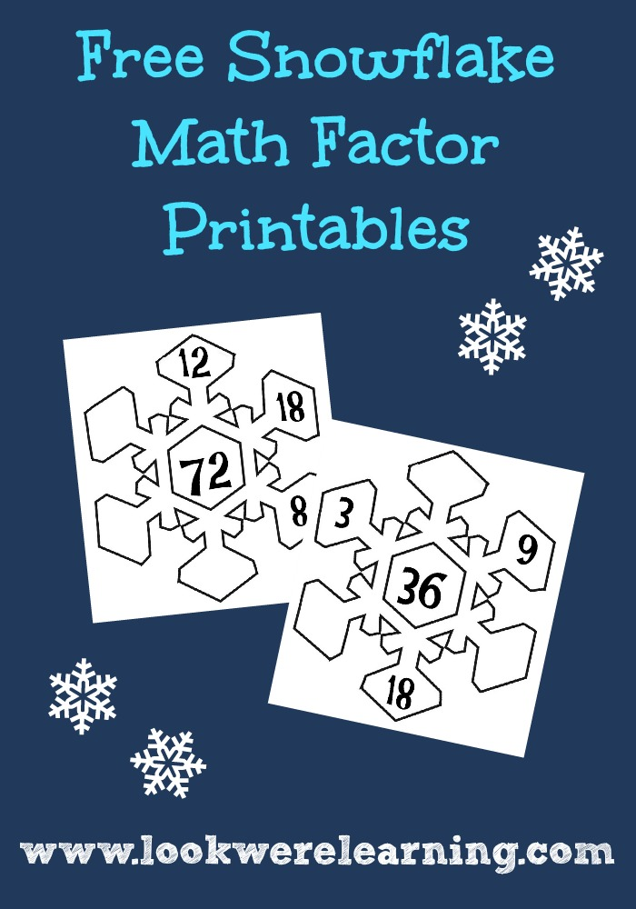 Free Snowflake Math Factors Printable Activity