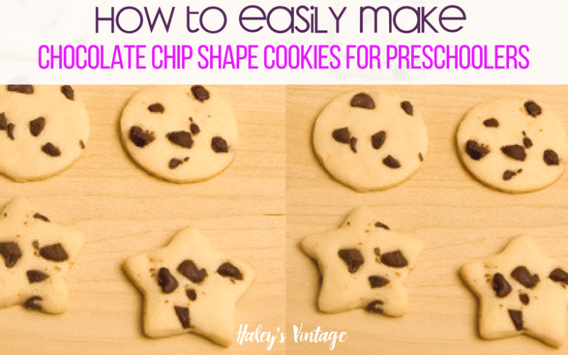 How to Easily Make Chocolate Chip Shape Cookies for Preschoolers