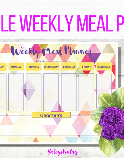 Are you sick and tired of figuring out what's for dinner? With my FREE Printable Weekly Meal Planner, you can officially make dinner easy again!