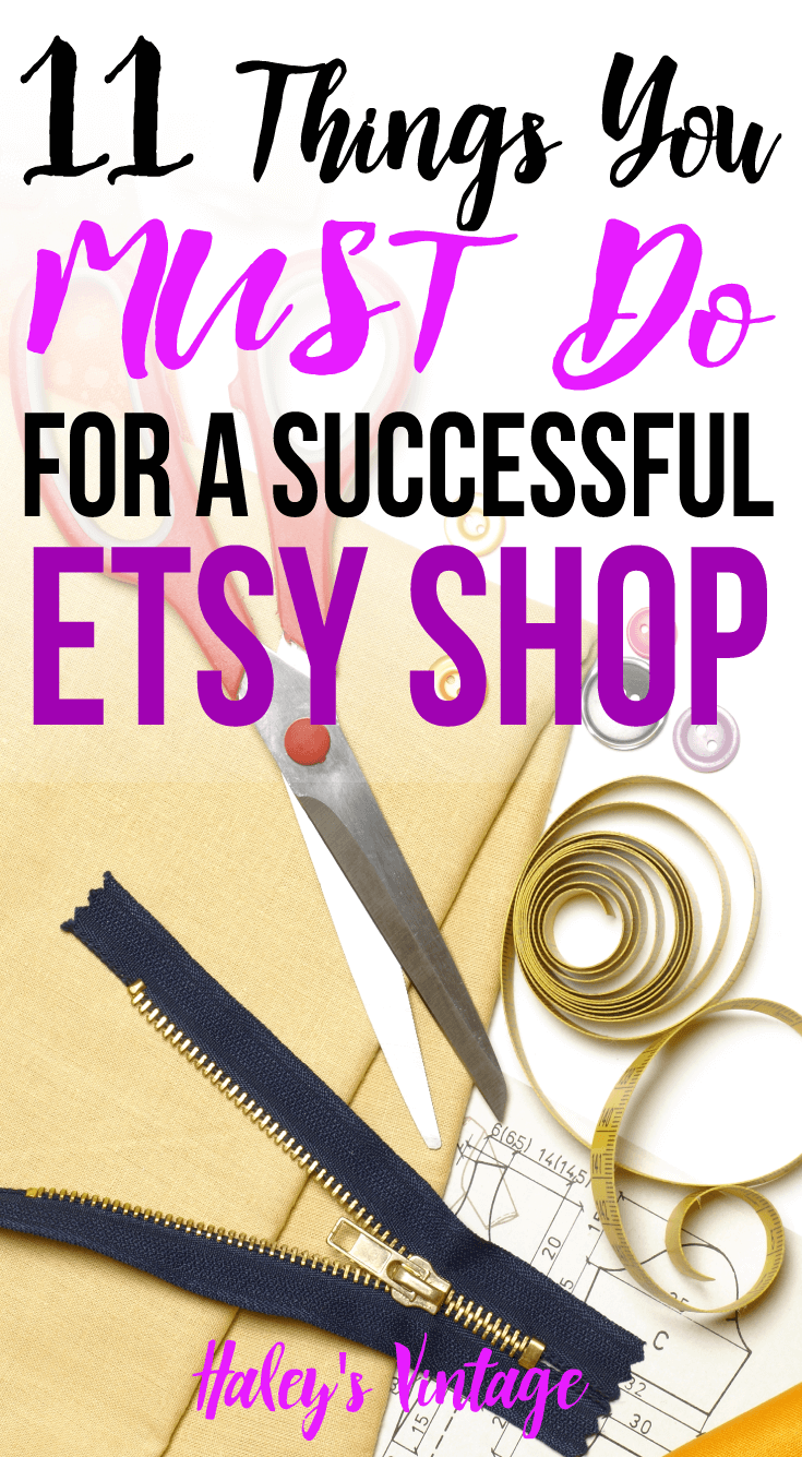 Having a successful Etsy shop does not happen by chance! Read my tips if you are ready to push your Etsy shop to the next level and become a success too.