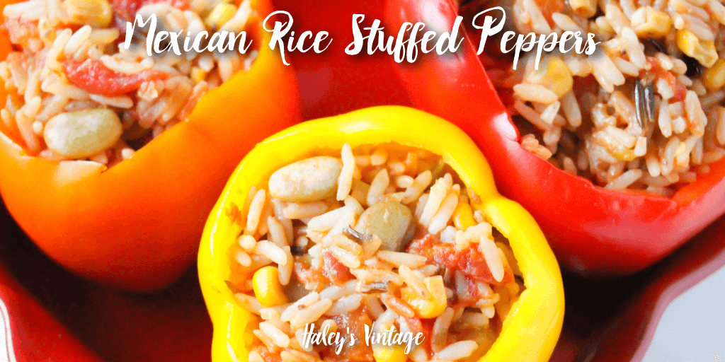 Looking for a delicious stuffed pepper recipe? You will want to try these Mexican Rice Stuffed Peppers for your next dinner party!