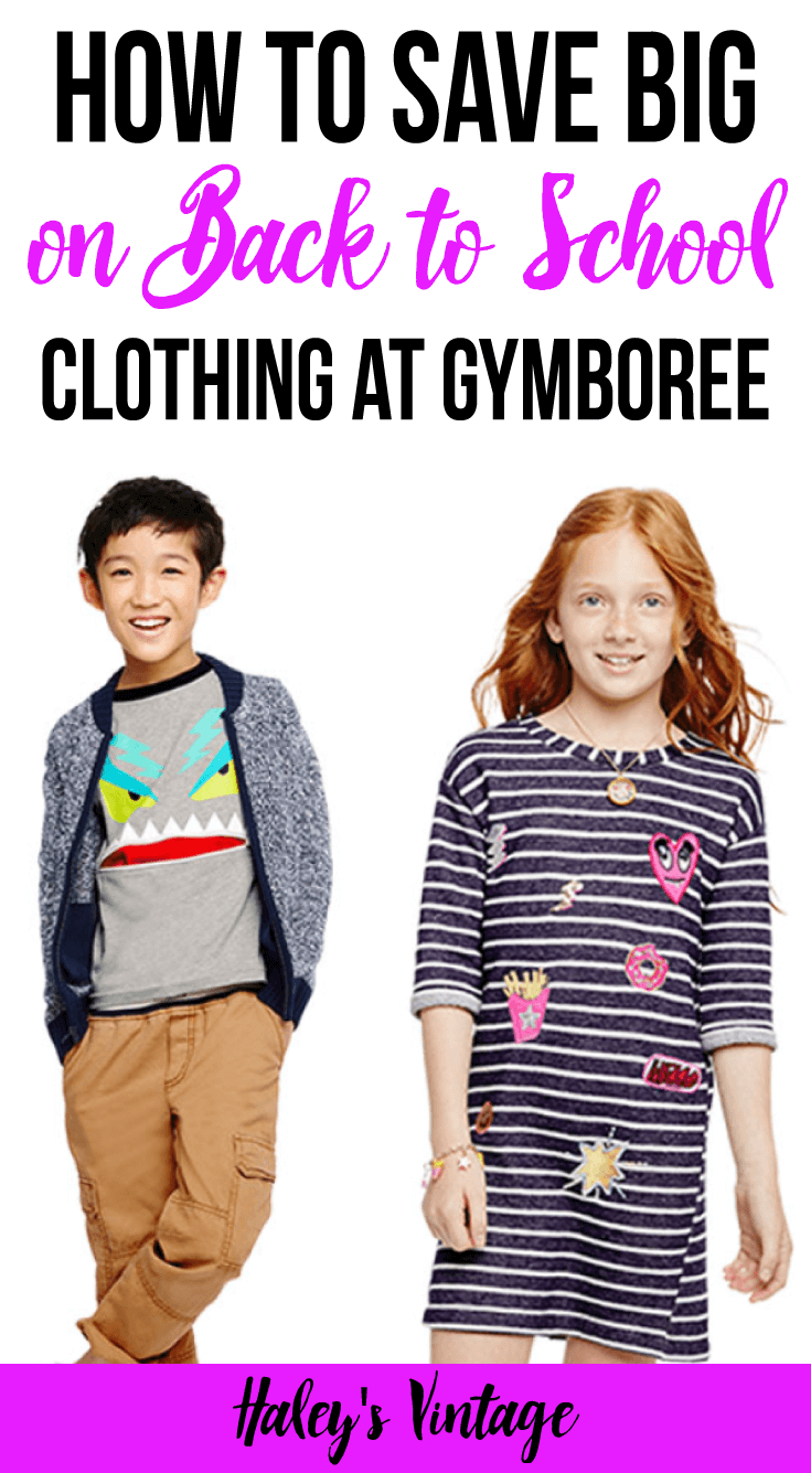Do you struggle to find back to school clothing for your kids? See why Gymboree is my favorite place to save big on school clothes for kids!