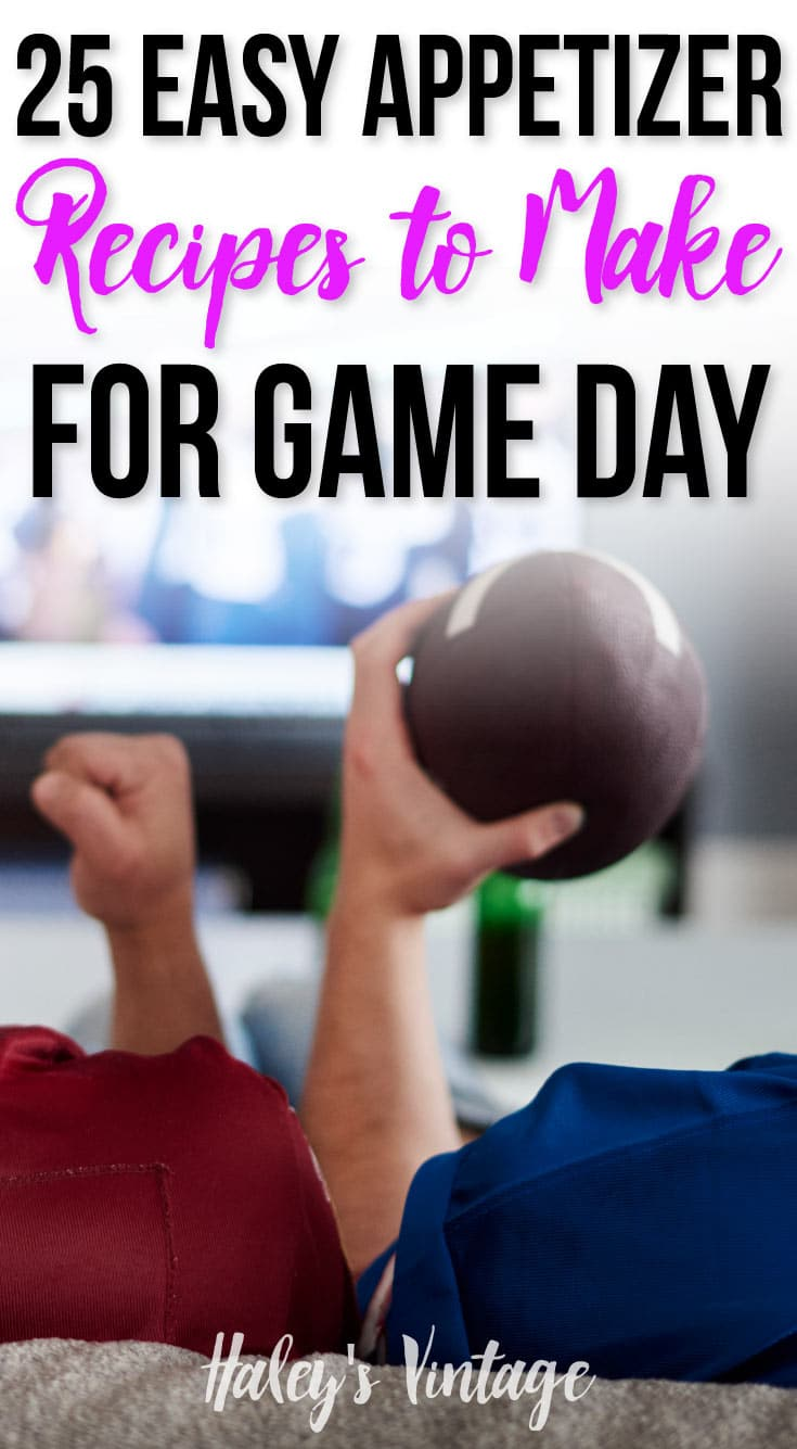 Game day should be fun and exciting, and not spent in the kitchen! With my easy appetizer recipes, you'll actually get to watch the game instead of cooking.