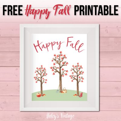FREE Happy Fall Printable That Will Put a Smile on Your Face