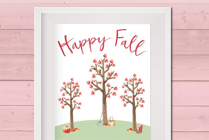 Are you ready for my favorite season? My FREE Happy Fall Printable will not only put a smile on your face but will also be a cute way to decorate.