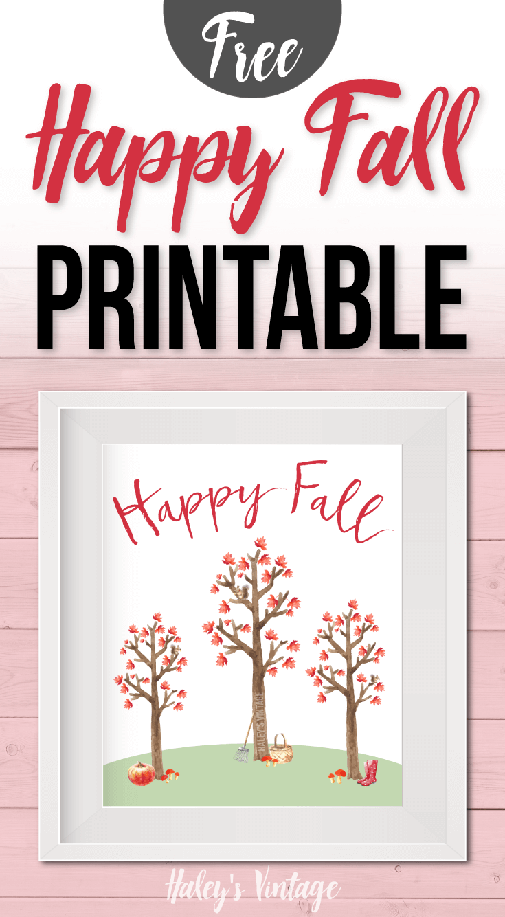 Are you ready for my favorite season? My FREE Happy #Fall #Printable will not only put a smile on your face but will also be a cute way to decorate.