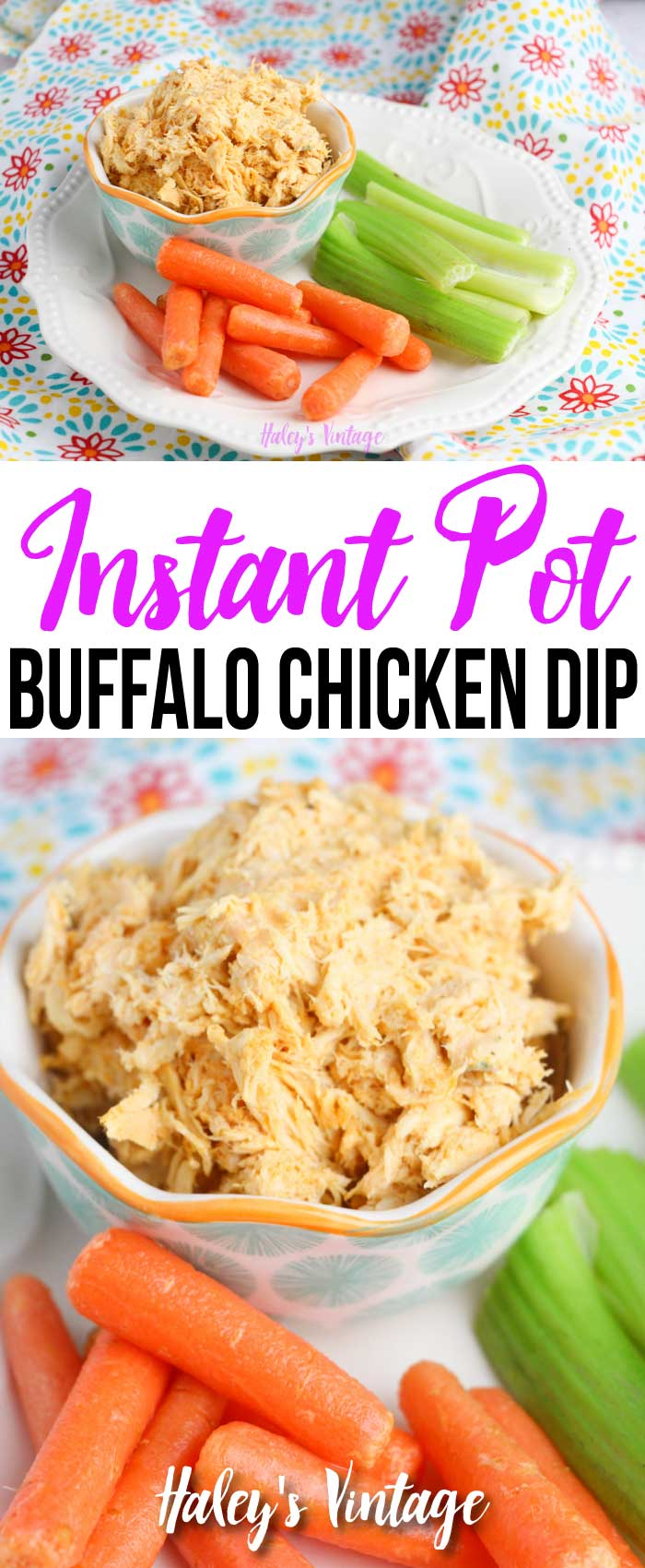 Are you looking for a great game day recipe? Why not try my Instant Pot Buffalo Chicken Dip! This delicious recipe will please all the fans in your house. #instantpot #dip