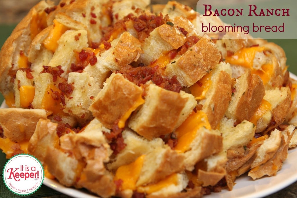 Bacon Ranch Blooming Bread - With these easy appetizer recipes, you'll actually get to watch the game instead of cooking.