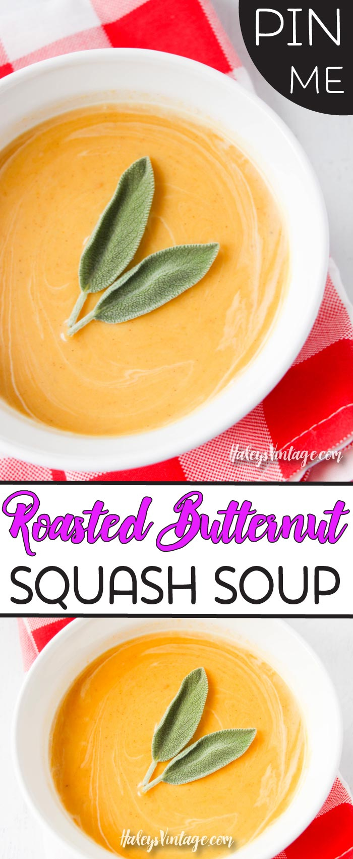 Are you looking for an easy roasted butternut squash soup recipe? Well, look no further... my delicious butternut squash soup will please even the most discerning taste buds! #butternutsquashsoup #recipe #onepotmeal
